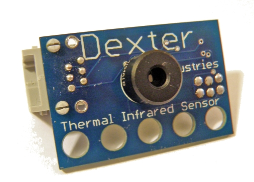 The following image cannot be displayed: Dexter Industries' Thermal IR Imaging Sensor; Front View